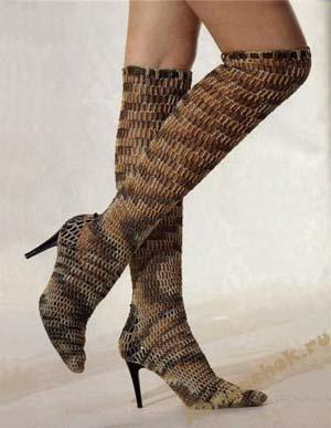 ...вязаные тапочки спицами. тапочки. схема вязания сапоги крючком.