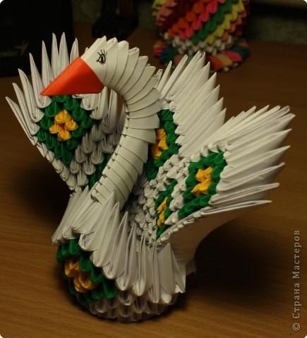 Павлин из модулей оригами