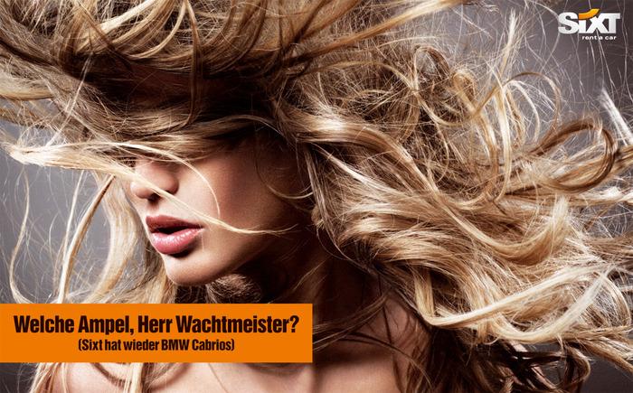 Sixt Car Rental Blond Woman Печатная реклама, aгентство Jung Von