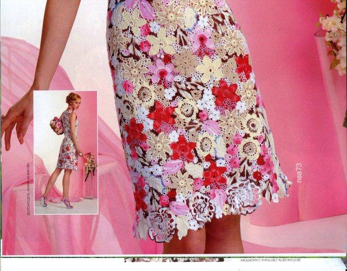 Веселый цветочек платья крючком