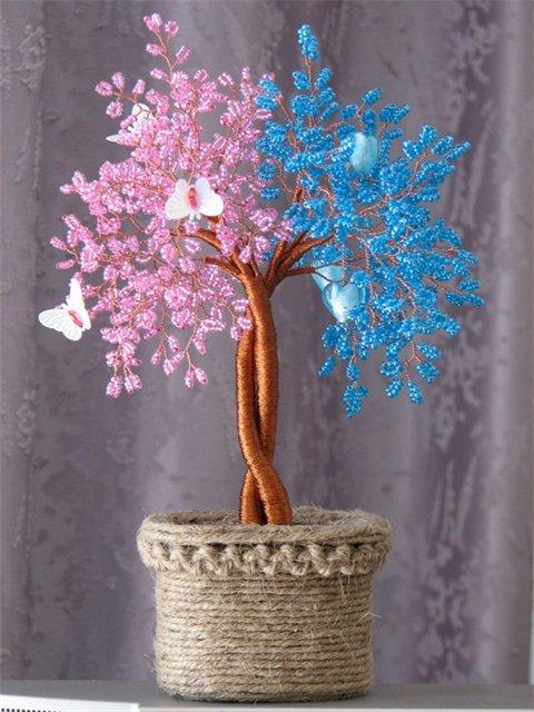 Деревья из бисера схемы,