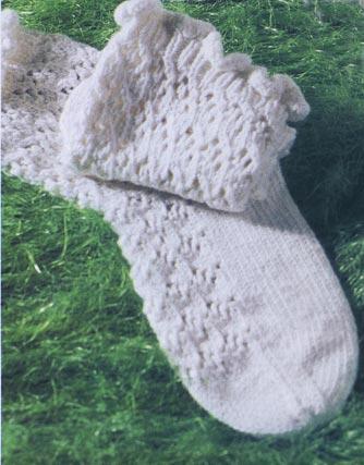 Ажурные детские носки - Вязанные носки.