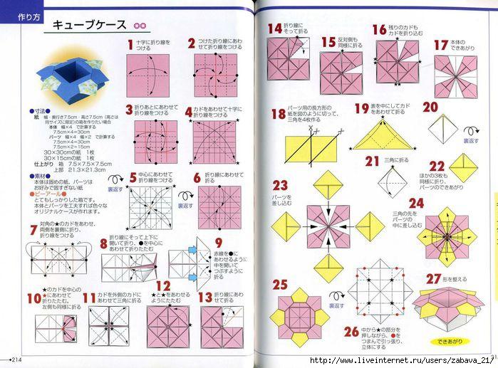 оригами схема - Карта