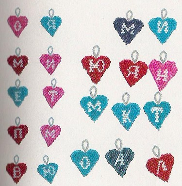 Сердечки с буквами: фото и