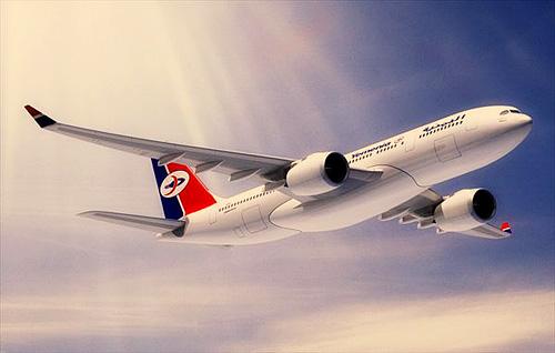 Самолёт авиакомпании Yemenia Air