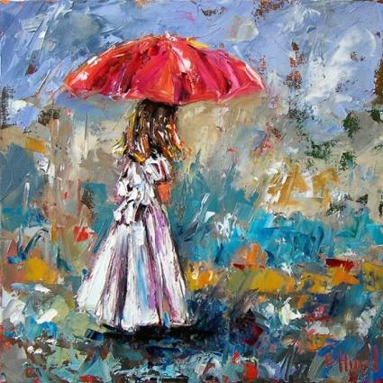 Девушка с зонтиком стихи