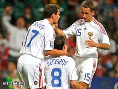 Матч отборочного турнира чемпионата мира по футболу. Россия 3 : 1 Уэльс