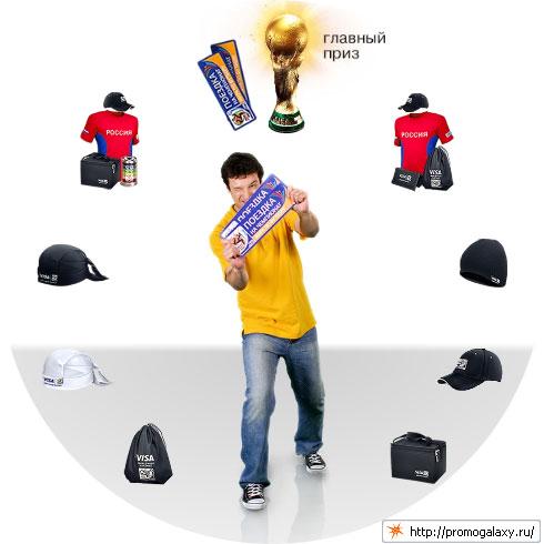 Стимулирующая лотерея Visa «Распишись в своей любви к футболу!»