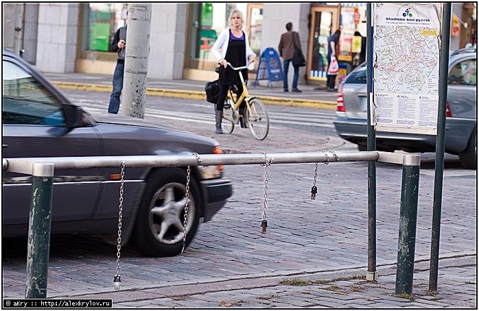 Всё, что осталось от бесплатных жёлтых городских велосипедов