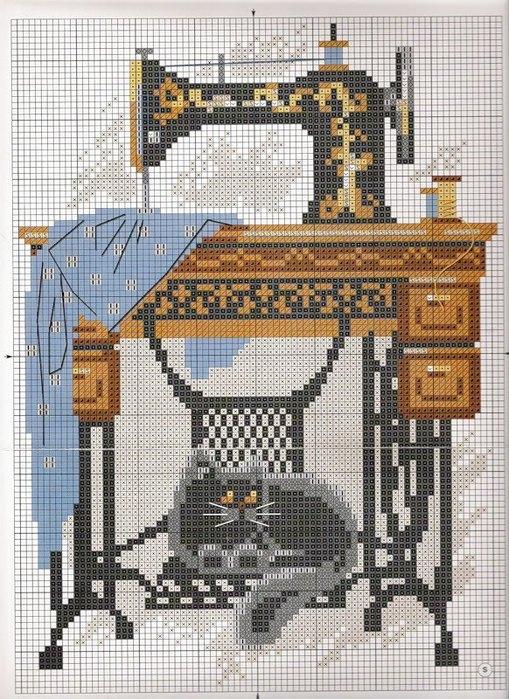 """схема вышивки""""швейная машина с"""