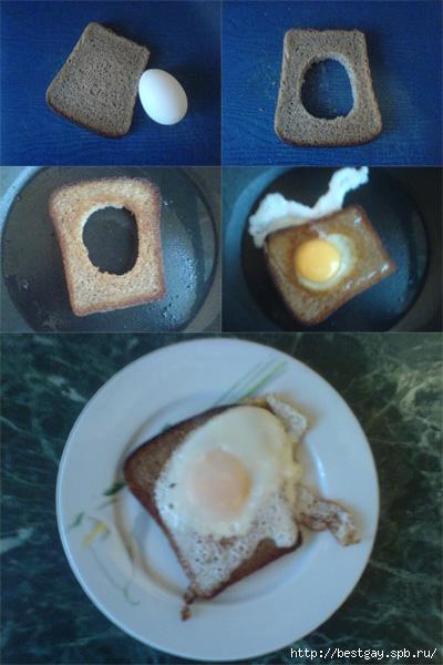 Window Egg, традиционная английская кухня