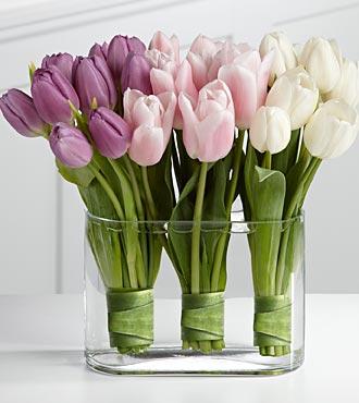 Композиции из тюльпанов