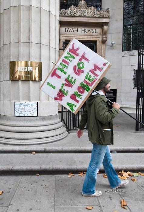 Протест в поддержку свободы прессы