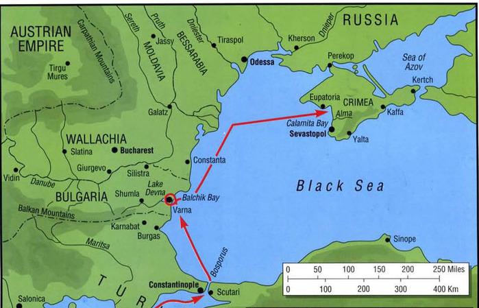 сражений Крымской войны