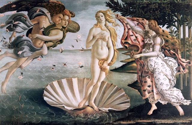 Рождение Венеры, Боттичелли