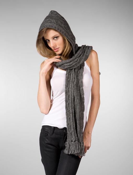 Молодежный шарф с капюшоном