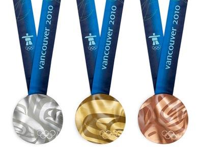 Олимпийские медали Ванкувера 2010