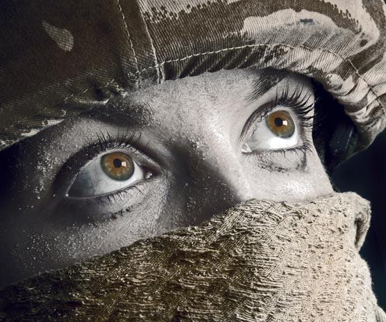 глаза цвета хаки