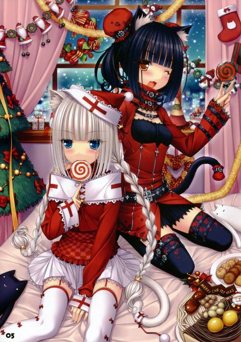 картинки аниме 2 девушек:
