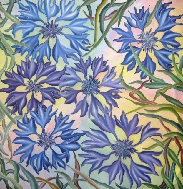 Искусство росписи по шелку (для начинающих)  50022361_vasilki