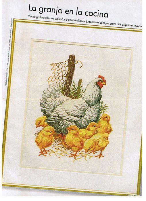 """Схема вышивки """"курица с"""