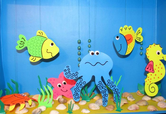 Поделка Аквариум с рыбками своими руками. Мастер-класс с 39