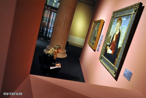 """Выставка """"От Ботичелли до Тициана"""" в музее изобразительных искусств Будапешта, Венгрия"""