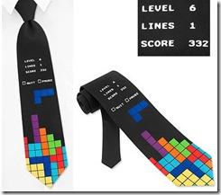 галстук любителя игры в тетрис