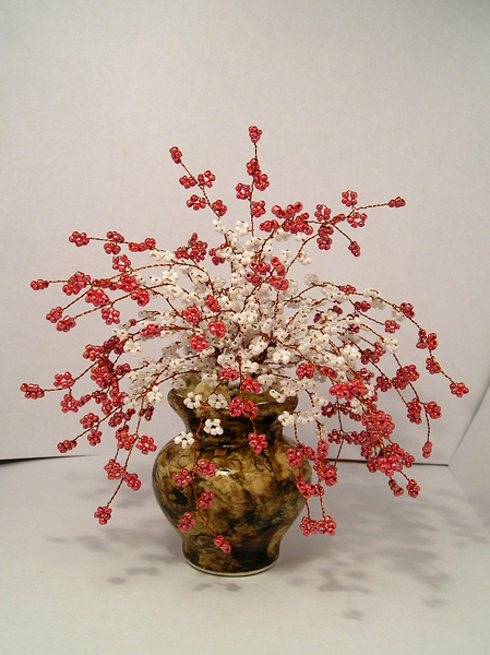 more ideas to make bead bonsai and flowers