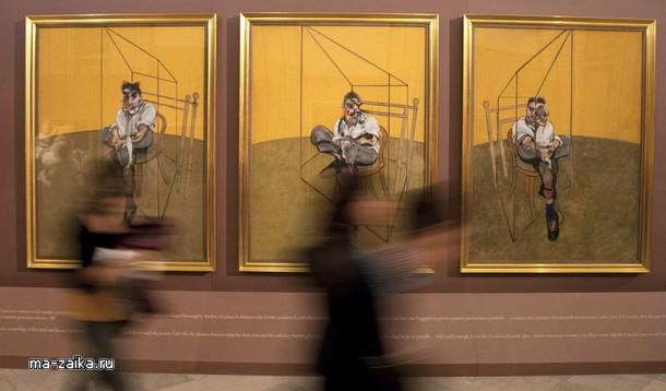 Выставка Фрэнсиса Бэкона и Караваджо в галерее Боргезе, Рим, 11 ноября 2009.