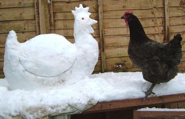Наши снежные скульптуры
