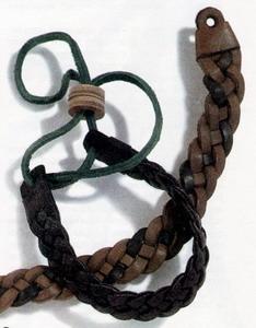 Мицель илья кожа плетёные и тиснёные браслеты