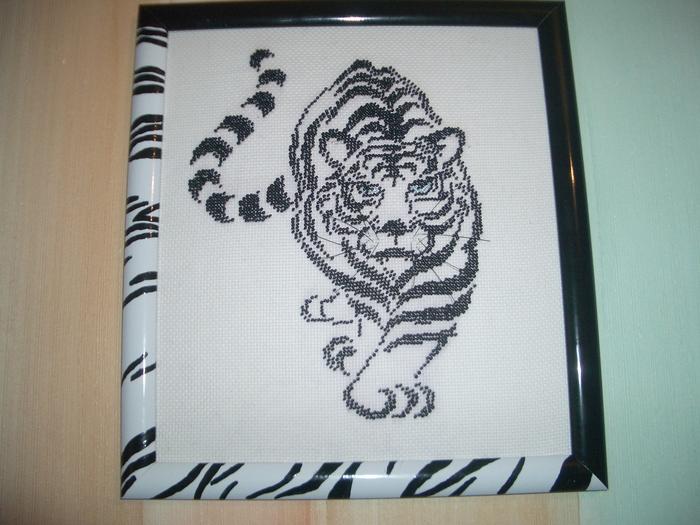 Вышивка бисером тигр.