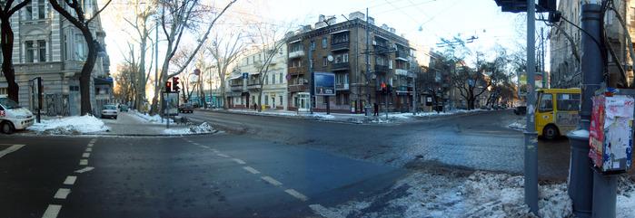 одесса, пушкинская, панорама