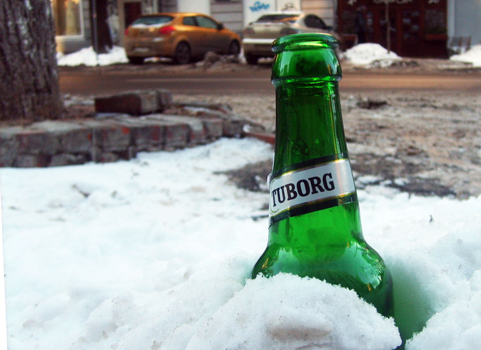 туборг, пойло для быдла, бутылка пива