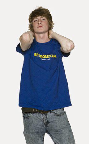 Футболка с надписью Metrosexual купить