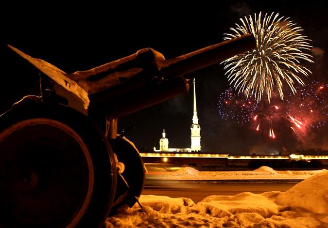 66-ая годовщина снятия блокады Ленинграда в Второй мировой войне, Санкт-Петербург, 27 января 2010 года.