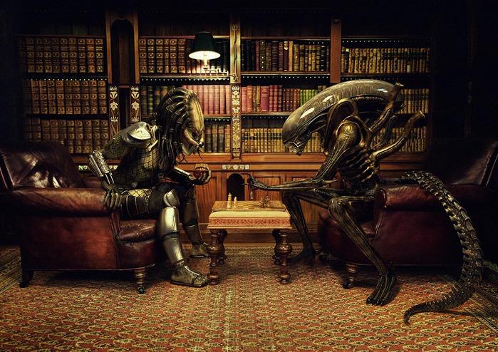 Принт, Печатная реклама, SKY Television: Alien Vs Predator (Chess)