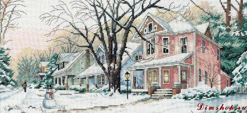 Зимний пейзаж вышивка крестом скачать схему бесплатно
