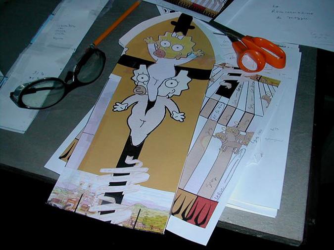 Симпсоны: витражные работы Джозефа Кавальери (Joseph Cavalieri)