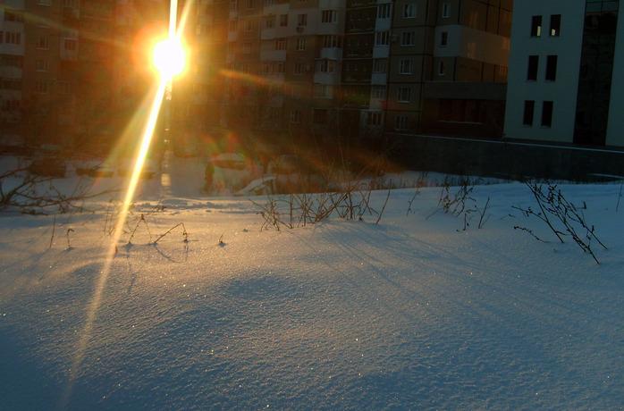чеканы, рассвет, солнце, снег