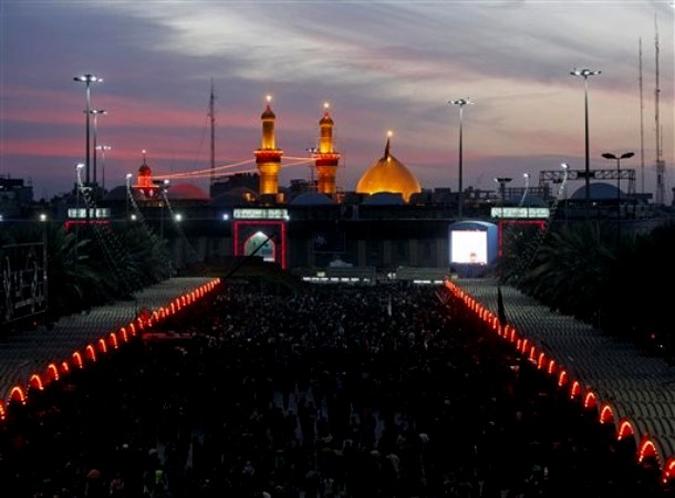 Шиитский фестиваль мусульман Arbaеen прошел в городе Кербела, Ирак, 3-4 февраля 2010 года.