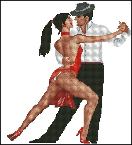 Танго. Схема вышивки крестом