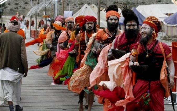 Индусский фестиваль Кумбха Мела (Kumbh Mela), Джайпур, Индия, 9 февраля 2010 года.