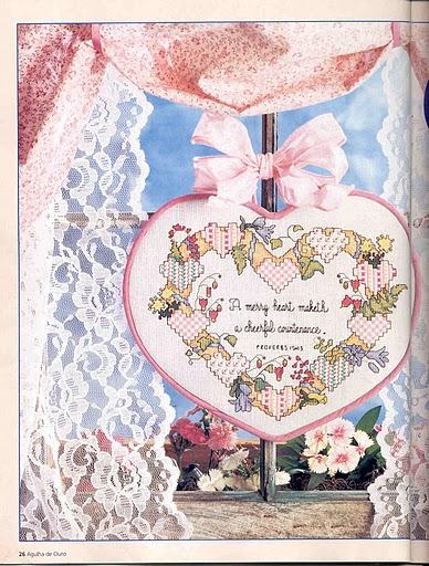 схемы вышивки  сердечка