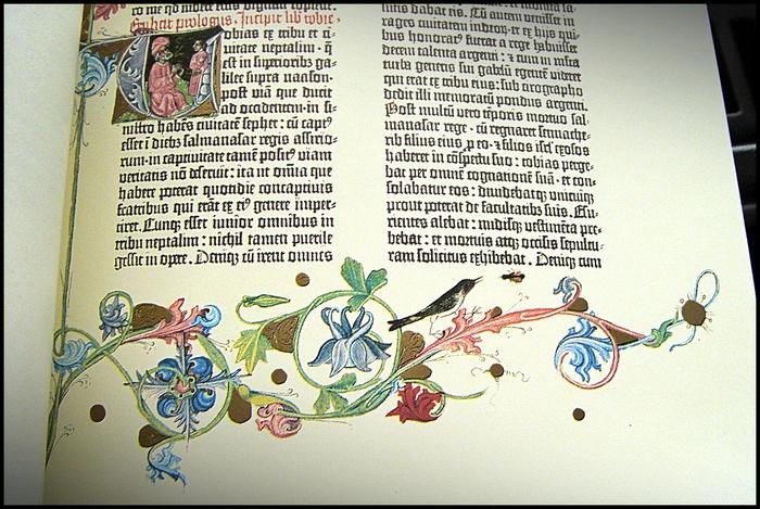 Иллюминирование Библии Гутенберга