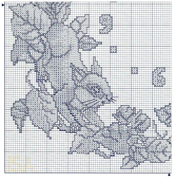 Схема к вышивке Енотики