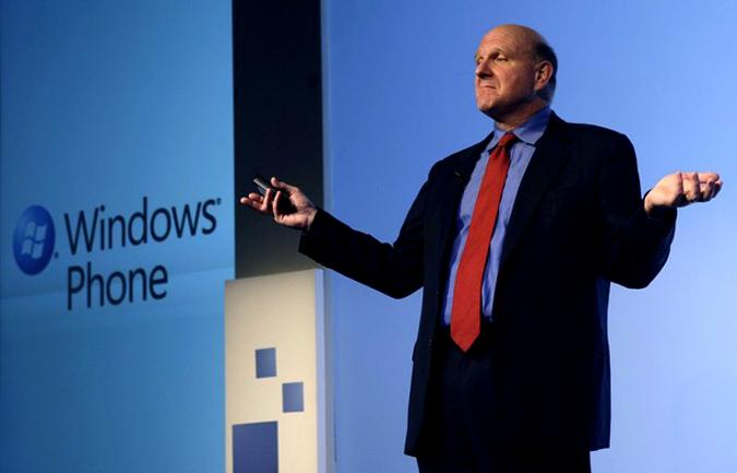 Презентация новой версии мобильной операционной системы Windows Phone 7 Series на конгрессе Mobile World в Барселоне, Испания, 15 февраля 2010 года.