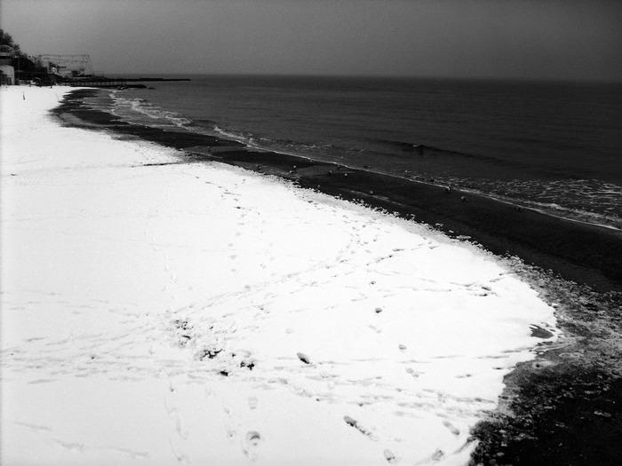 аркадия, море, берег зима