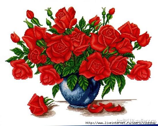 Розы (вышивка)